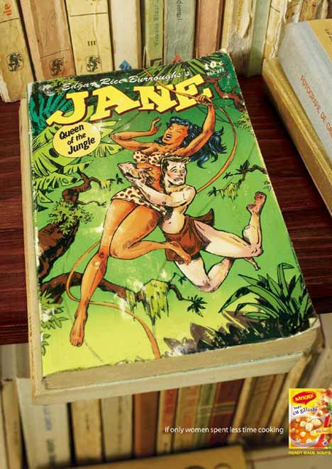 Jane carries Tarzan