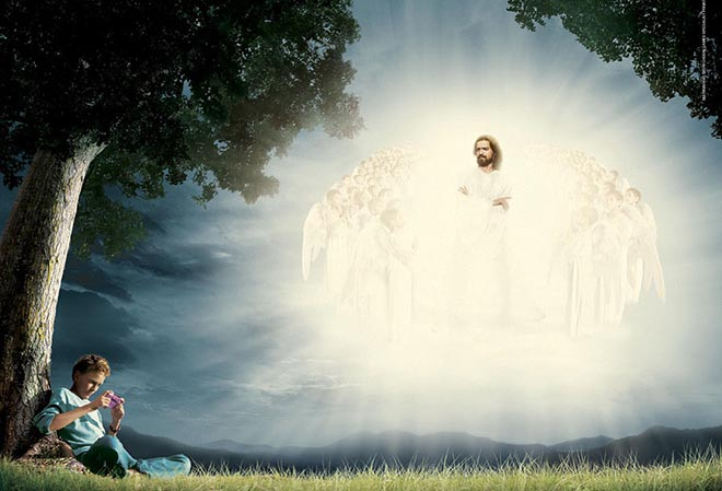 A Nintendo-playing boy misses the second coming of Jesus