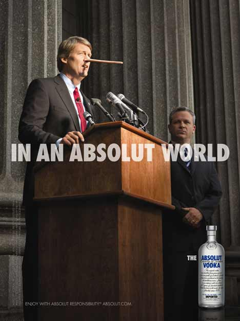 Lying Politician In An Absolut World