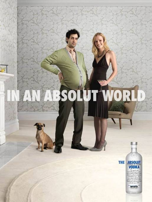 Pregnant man and partner In An Absolut World