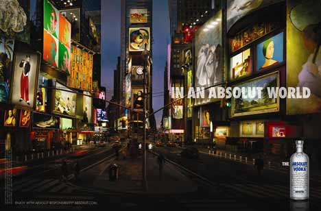 Times Square in an Absolut World