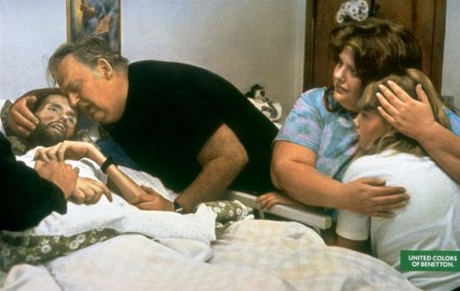 David Kirby dying of AIDS in Benetton Pieta print ad
