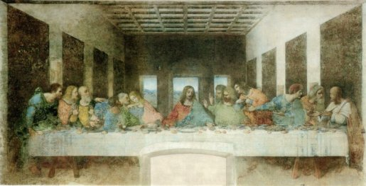Restored mural The Last Supper by Da Vinci