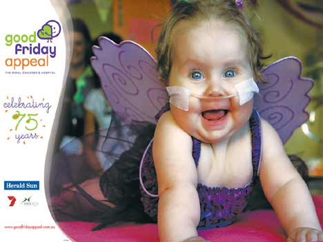 Poster from Melbourne Children's Hospital Appeal 2006