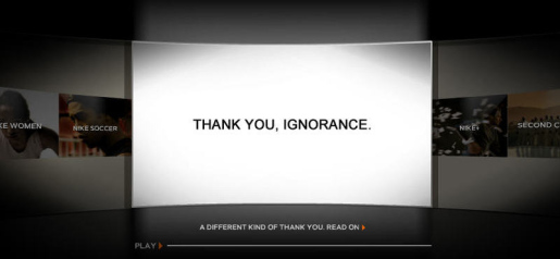 Nike says Thank You Ignorance
