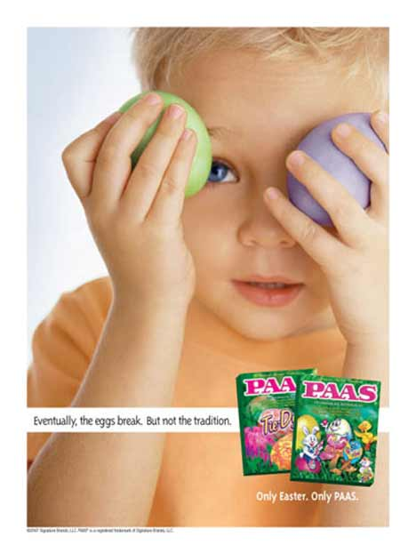 Paas Easter Eggs print advertisement