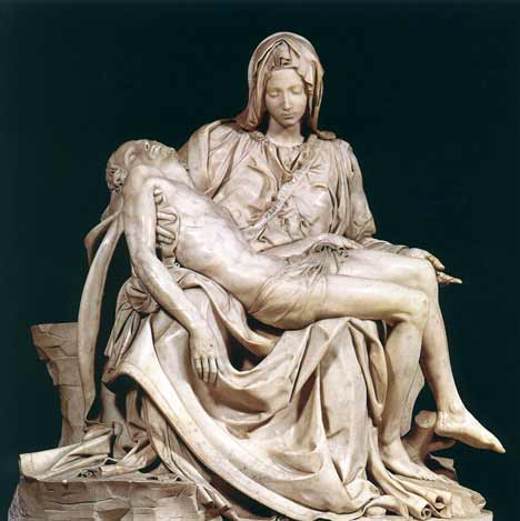 Michaelangelo's Pieta sculpture