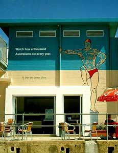 Shire Skin Cancer Clinic Mural at Swimming Pool