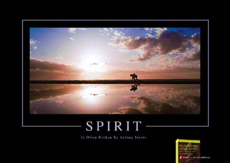 Spirit is often broken by aching joints