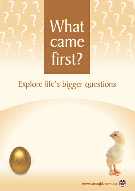 What Came First - Easter poster