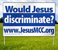 Would Jesus Discriminate - Billboard