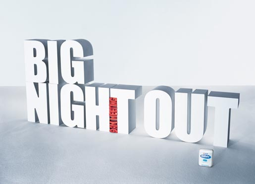 Big Night Out 9 am Meeting - Dental Floss print ad