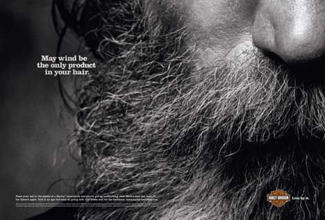 Harley Davidson Wind in Your Hair Print Ad