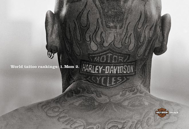 Harley Davidson World Tattoo Rankings Print Ad