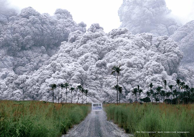Volcanic Ash in Philippine Daily Inquirer print ad