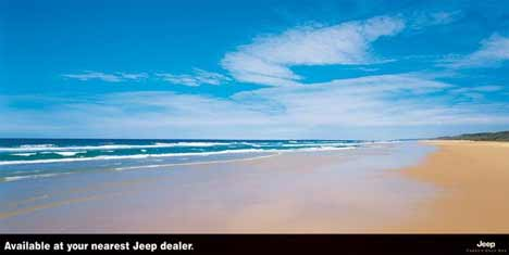 Ocean beach available at your nearest Jeep dealer