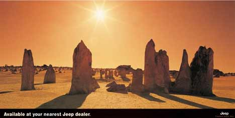 Desert scene available at your nearest Jeep dealer
