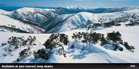 Snow covered mountains available at your nearest Jeep dealer
