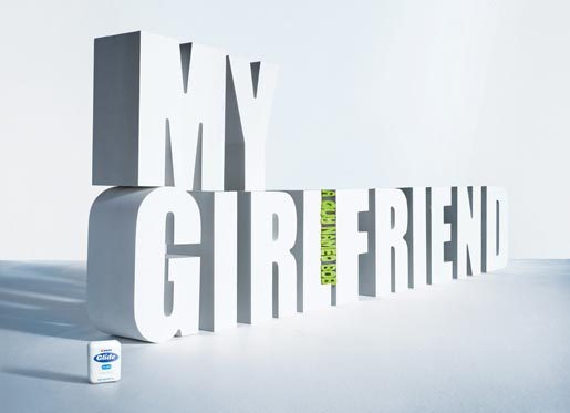 My Girlfriend - A Guy Named Bob - Dental Floss print ad
