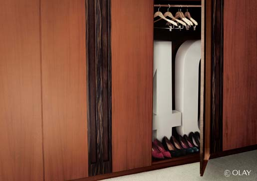 40 hidden inside a wardrobe