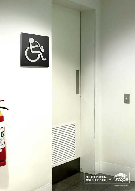 Disability sign with saxophone