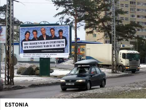 Chaser's Countdown Billboard in Estonia