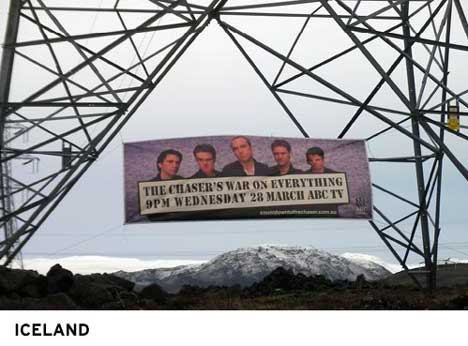 Chaser's Countdown Billboard in Iceland