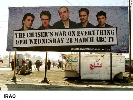 Chaser's Countdown Billboard in Iraq