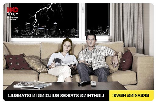 CNN Turk Lightning Print Advertisement