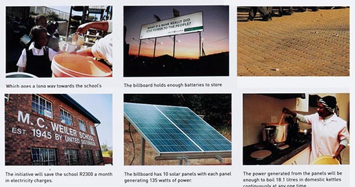 Nedbank solar powered billboard