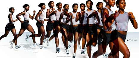 Women in Nike Running Ad