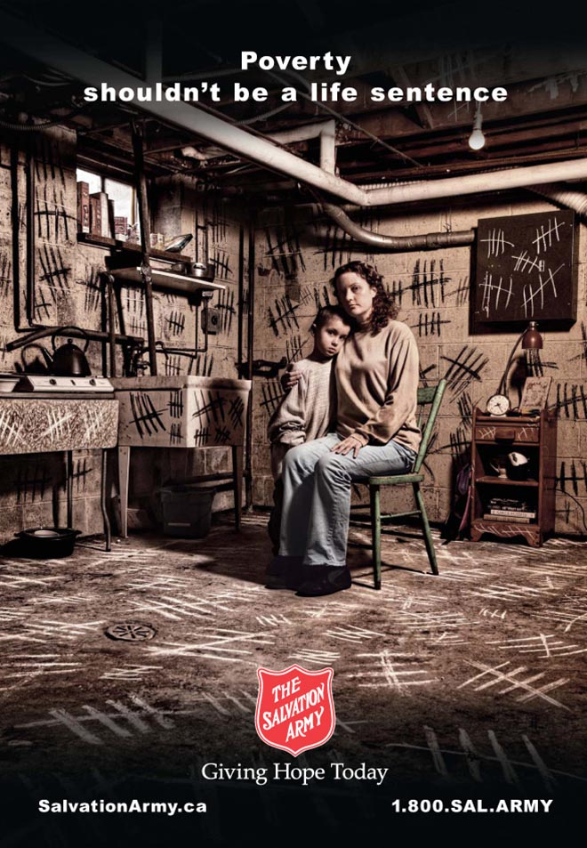 Salvation Army Canada Poverty Basement
