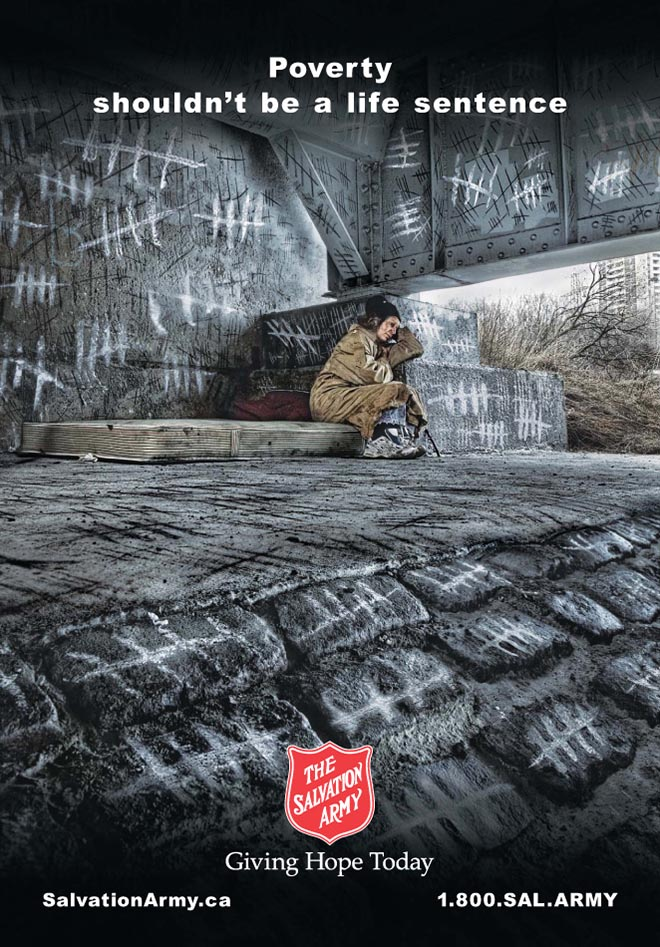Salvation Army Canada Poverty Homeless Woman