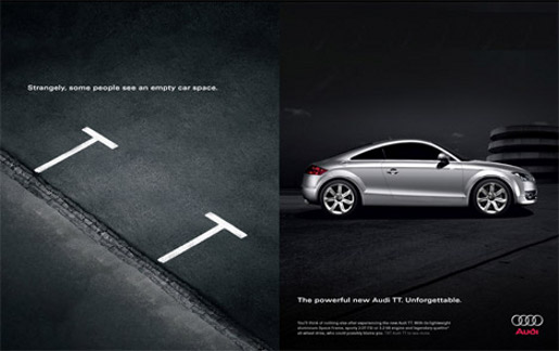 Audi TT Car Space print advertisement