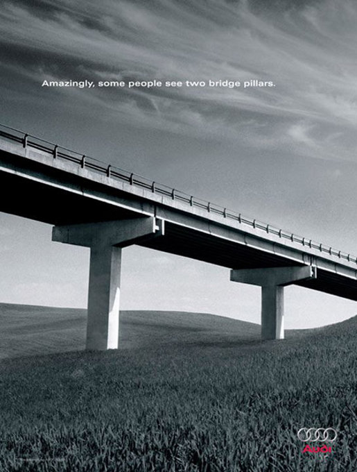 Audi TT Bridge print advertisement