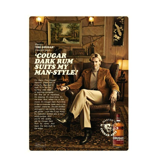 Barry Dawson Cougar Dark Rum is his style