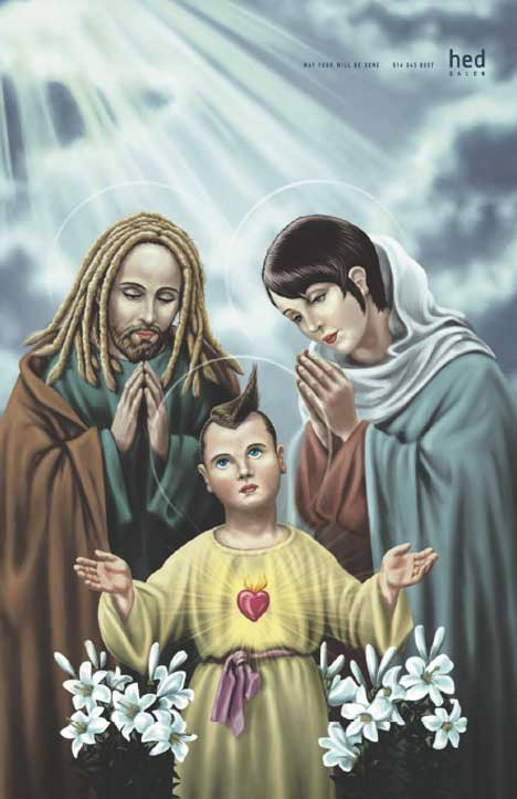 Holy Family in Hed Salon print advertisement