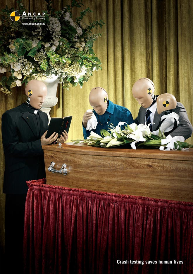 Crash Test Dummies at funeral