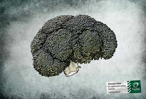Broccoli in Cycling Australia print ad