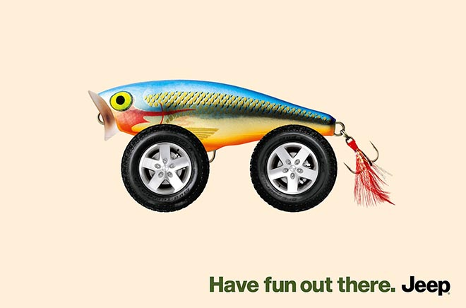 Jeep Fun with fishing lure