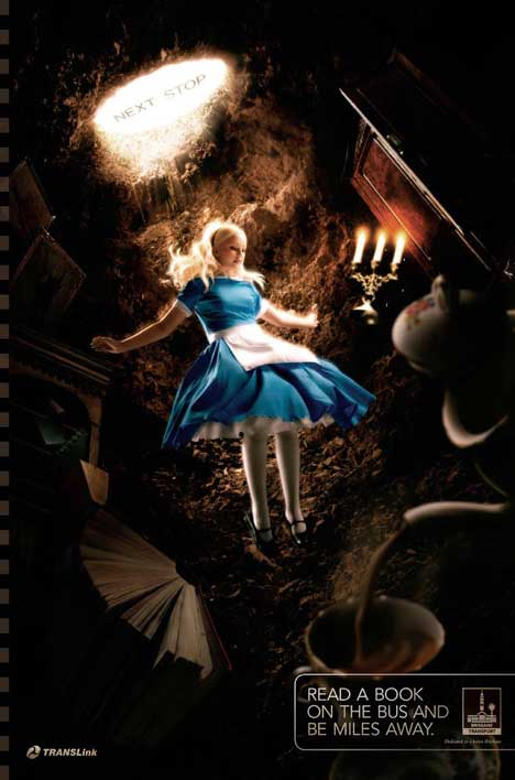 Alice in Wonderland Read a book and be miles away