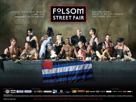 Last Supper rendition for Folsom Street Fair
