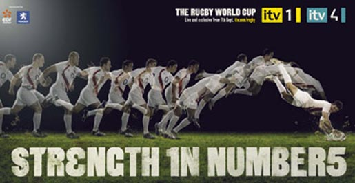 ITV Rugby World Cup Strength in Numbers Try