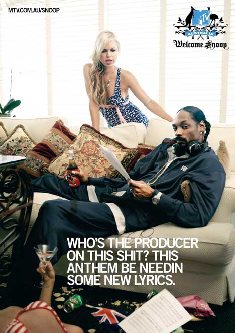 Snoop Dogg in MTV print ad