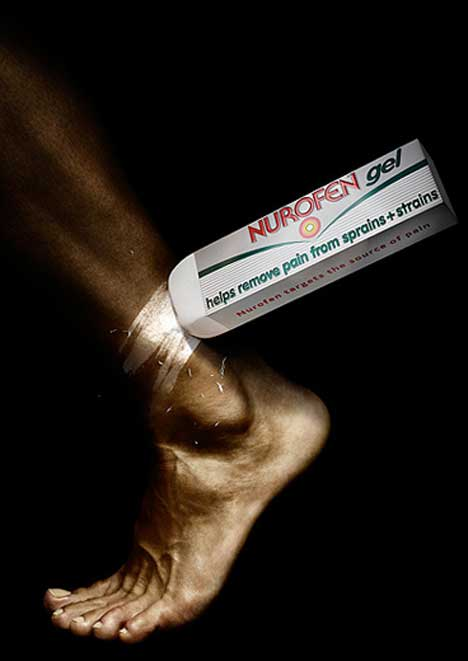 Ankle pain helped with Nurofen