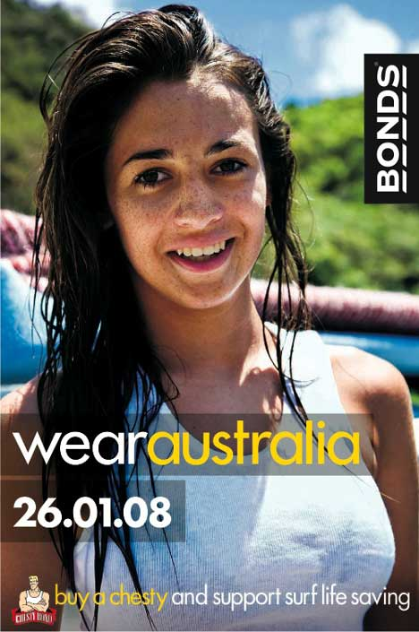 Woman in Bonds Wear Australia advertisement