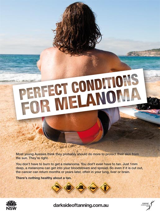 Dark Side of Tanning Poster - Perfect Conditions?