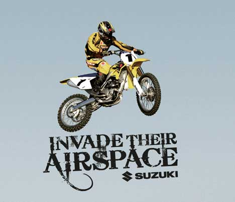 Suzuki Invade Their Airspace print advertisement