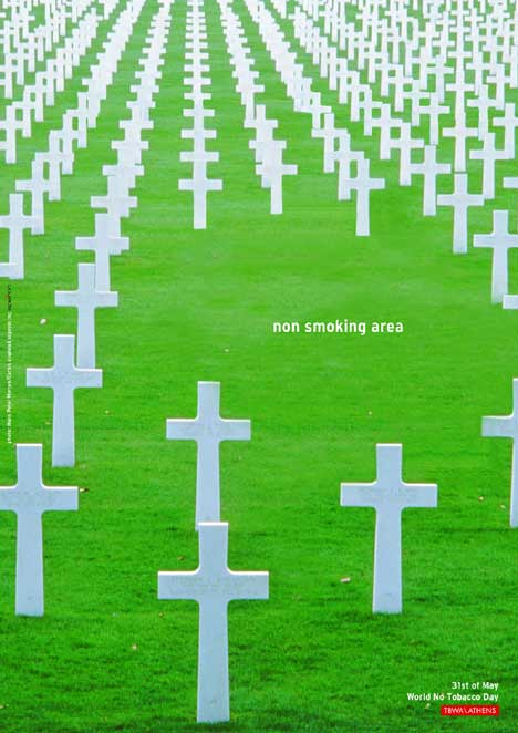 Non Smoking Area in Greek cemetery