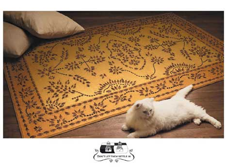 Carpet covered in roaches in Ridsect Roach Trap print ad